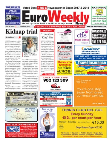 factory authentic 9485c 7de42 Euro Weekly News - Costa del Sol 7 - 13 Feb 2019 Issue 1753 by Euro ...