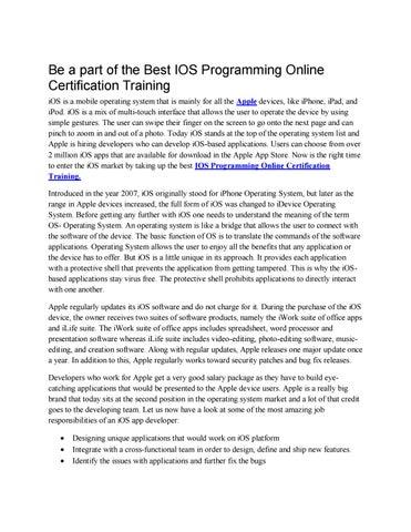 IOS Programming Online Certification Training by Danish Khan