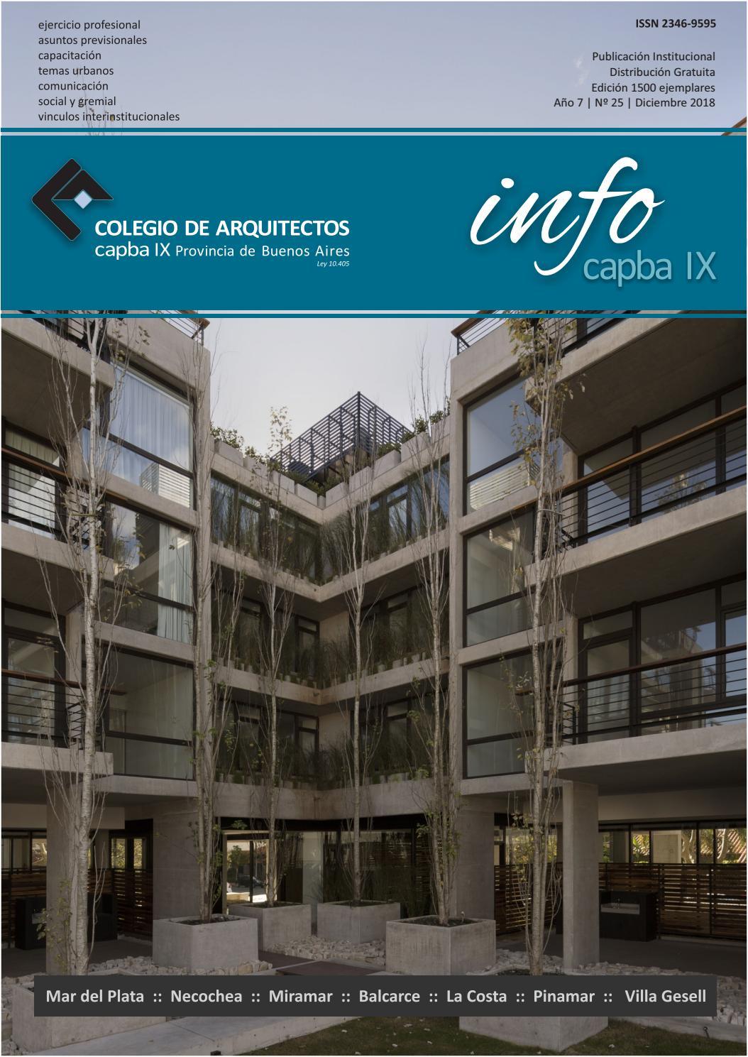 d9c908d95e Info CAPBA IX N° 25 by Colegio de Arquitectos de la Provincia de Buenos  Aires Distrito IX - issuu