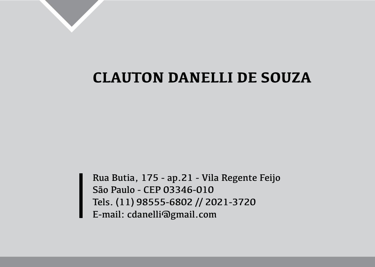 fd83482d23 Portifolio by Clauton Danelli de Souza - issuu