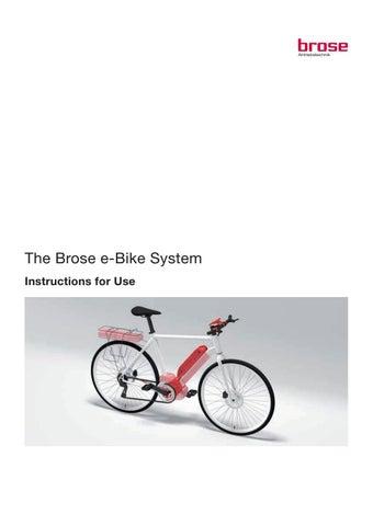 BROSE E-Bike Manual by aislingkathrine - issuu