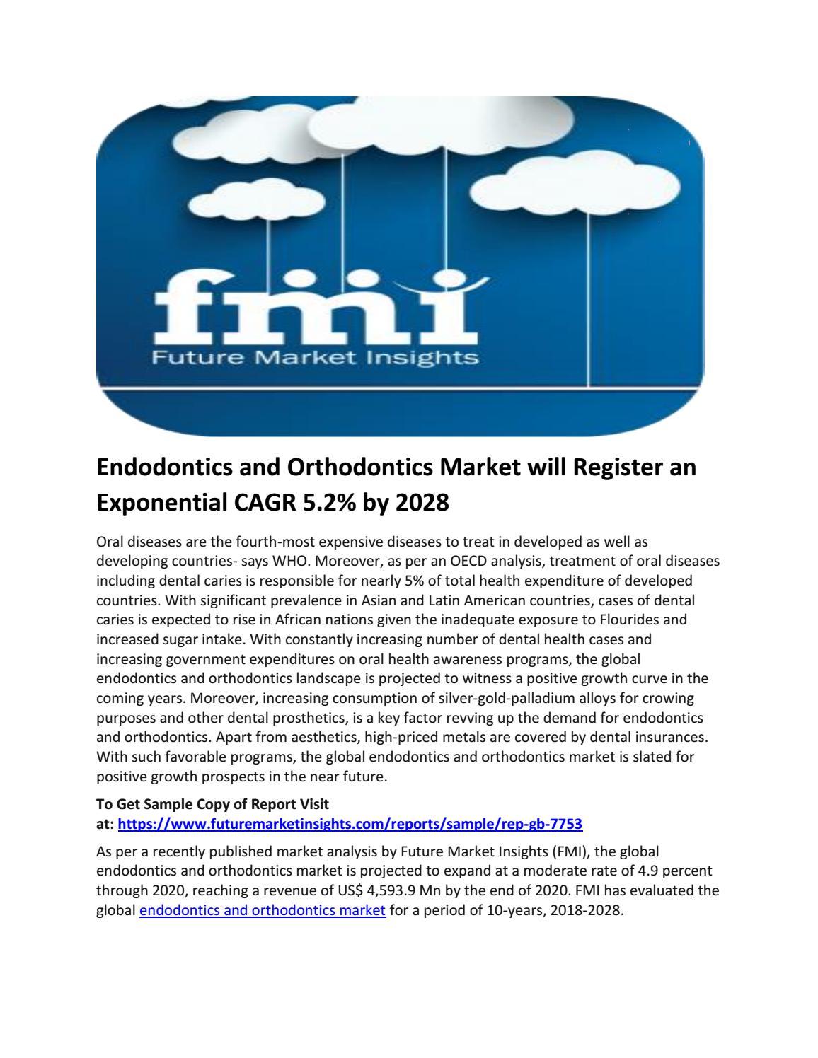 Endodontics and Orthodontics Market will Register an