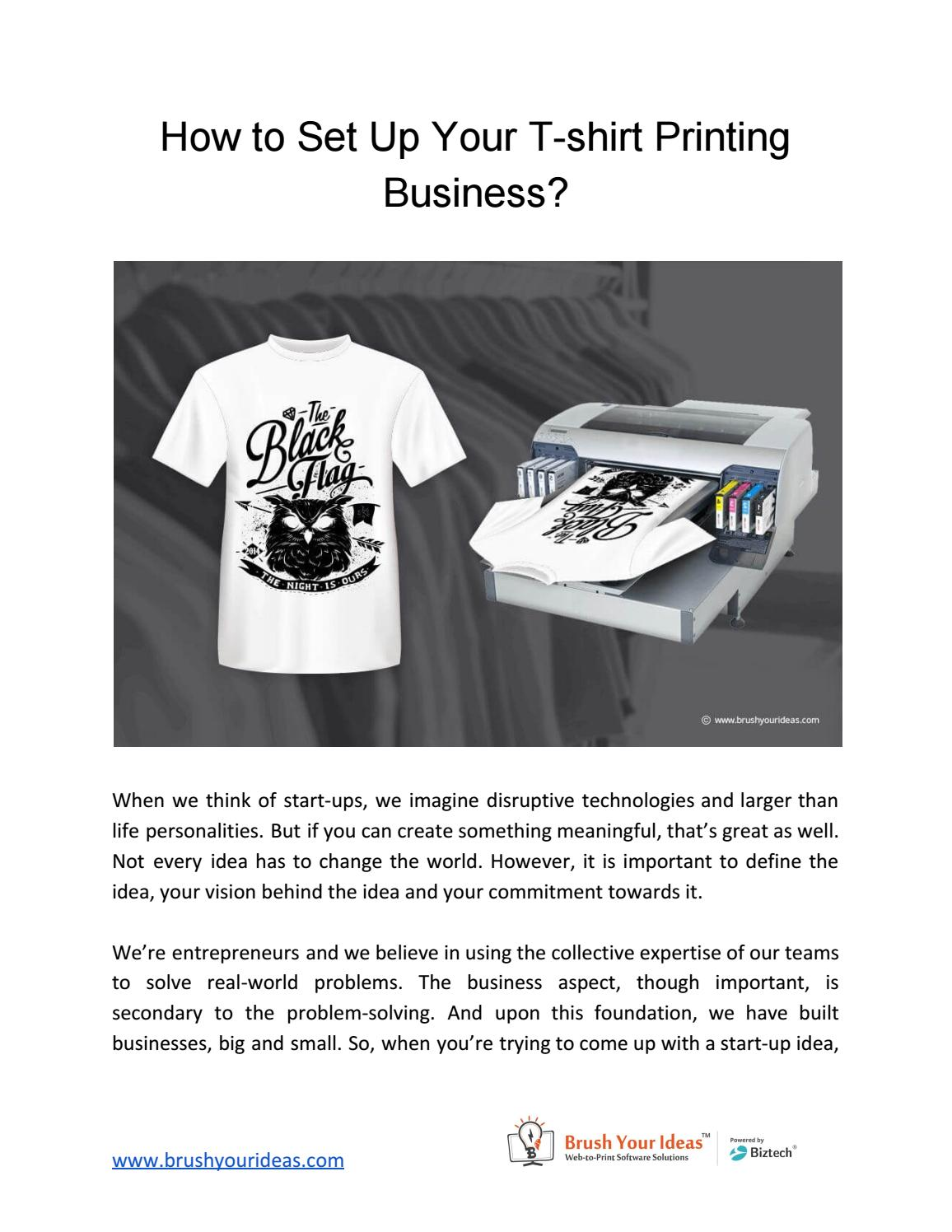 How To Start Tshirt Design Business
