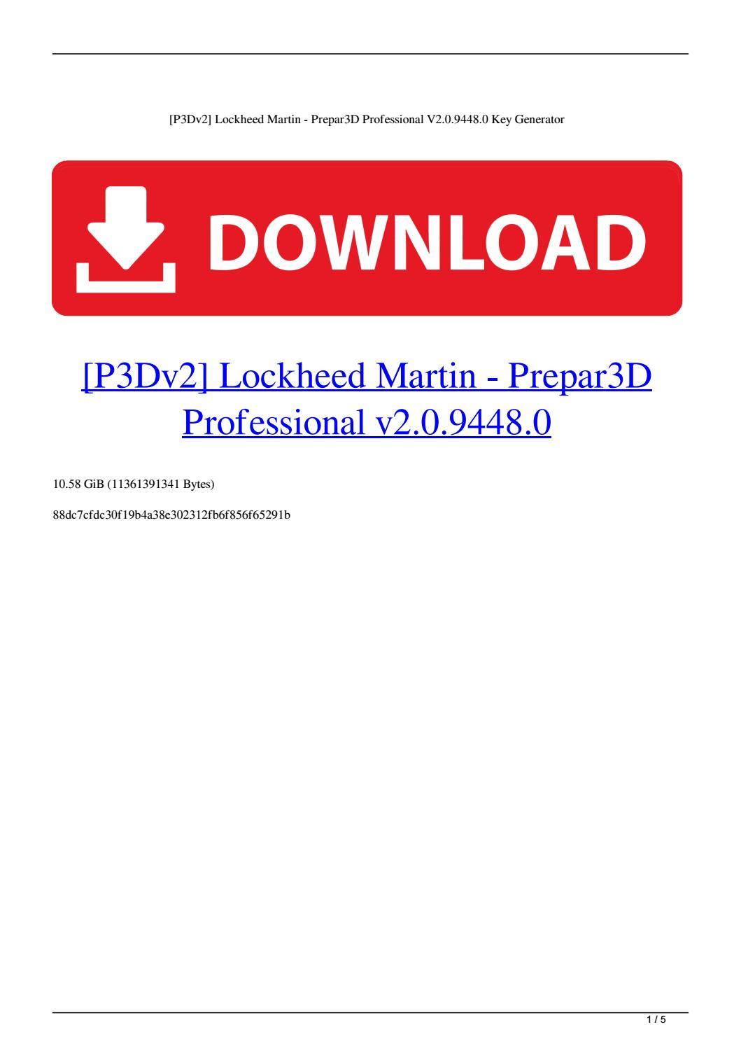 P3Dv2] Lockheed Martin - Prepar3D Professional V2 0 9448 0