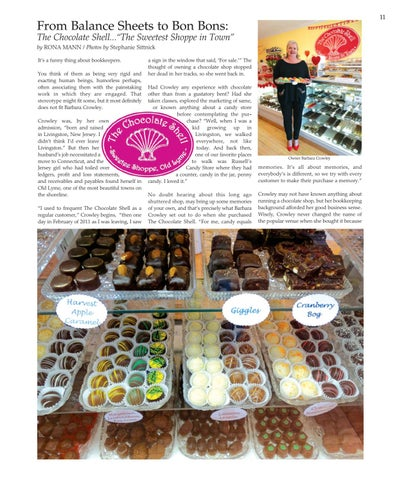 """Page 11 of From Balance Sheets to Bon Bons: The Chocolate Shell...""""The Sweetest Shoppe in Town"""""""