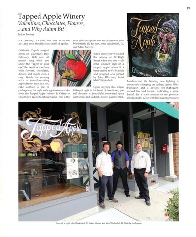 Page 19 of Tapped Apple Winery Valentines, Chocolates, Flowers  ...and Why Adam Bit