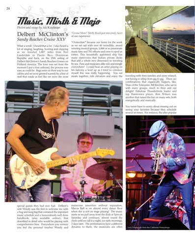 Page 24 of MUSIC, MIRTH and MOJO - Delbert McClinton's Sandy Beaches Cruise XXV
