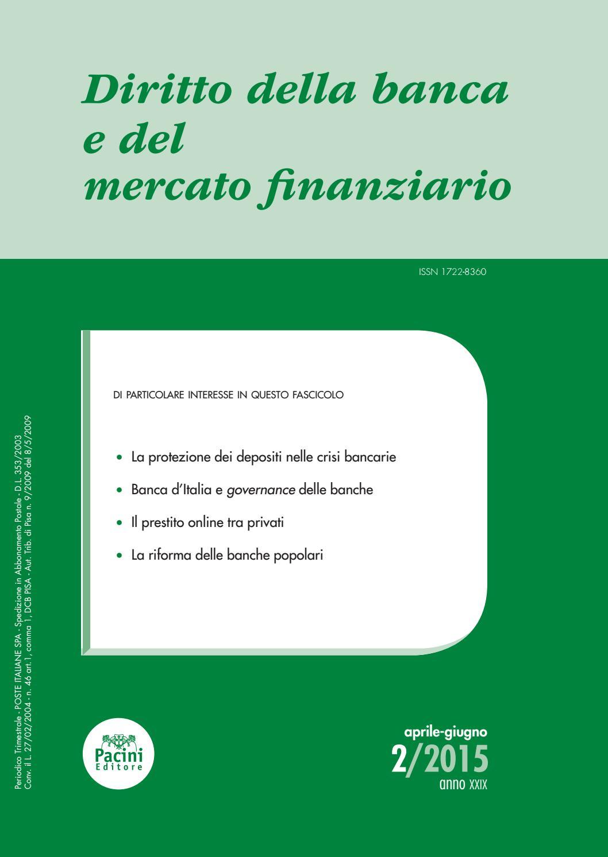 75e1007e82 Diritto della banca e del mercato finanziario 2/2015 by Pacini Editore -  issuu