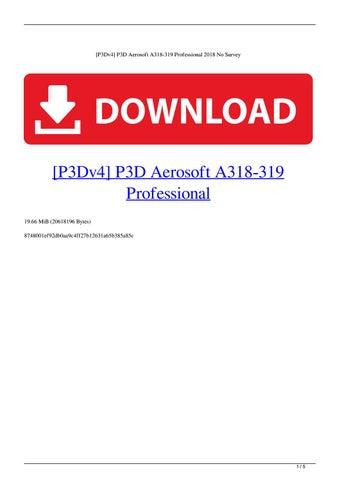 [P3Dv4] P3D Aerosoft A318-319 Professional 2018 No Survey