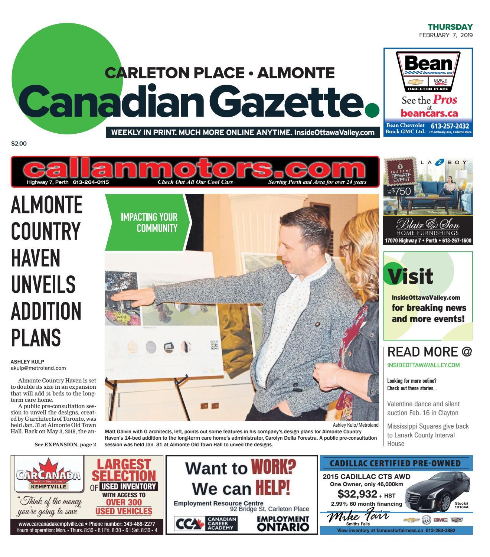 5a301d88088f25 OTV C A 20190207 by Metroland East - Almonte Carleton Place Canadian  Gazette - issuu