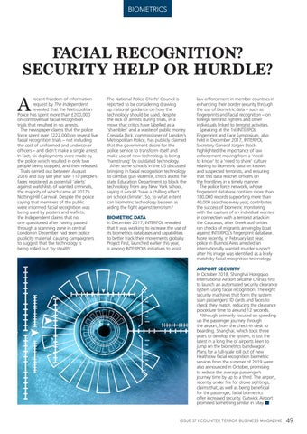 Page 49 of Facial Recognition? Security Help or Hurdle?