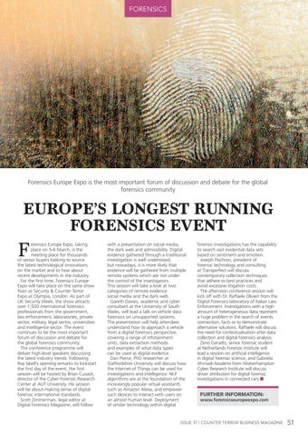 Page 51 of Europe's Longest Running Forensics Event