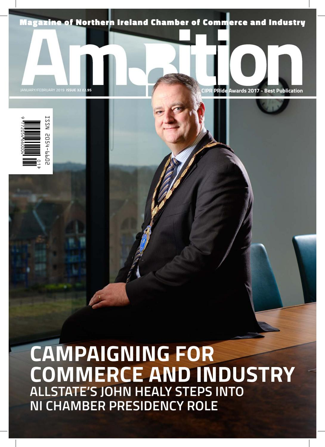 Ambition Issue 32 (January/February 2019) by NI Chamber of