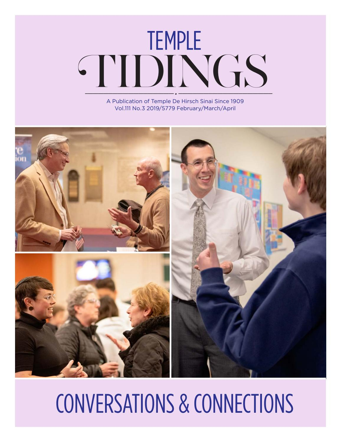 Temple Tidings Vol 111 No 3 2019/5779 February/March/April by Temple