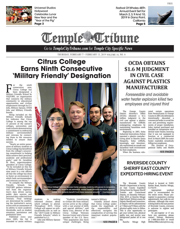 Temple City Tribune - 02/07/2019 by Beacon Media News - issuu