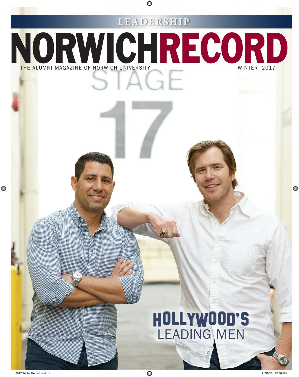 NORWICH RECORD | Winter 2017 by Norwich University - issuu