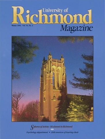 aa93505601a University of Richmond Magazine Winter 1992 by UR Scholarship ...
