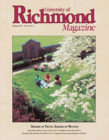 eb7a8c28090 University of Richmond Magazine Spring 1992 by UR Scholarship ...