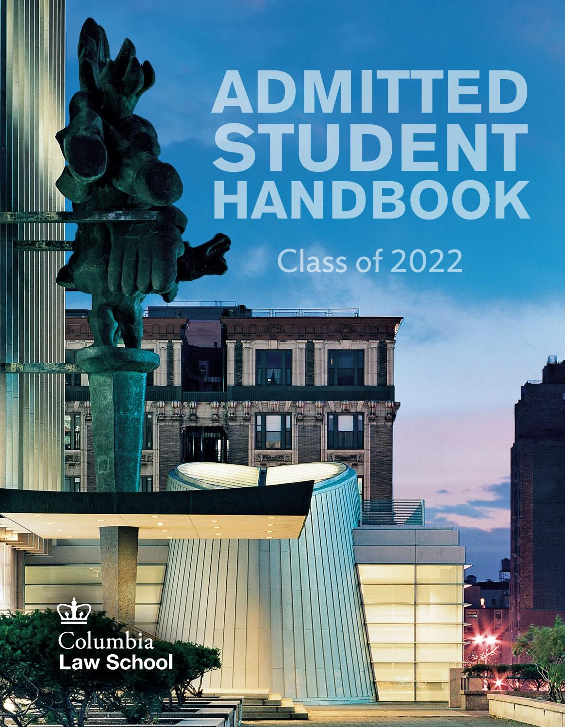 Columbia University Calendar 2022.Admitted Student Handbook Class Of 2022 By Cls Webcomm Issuu