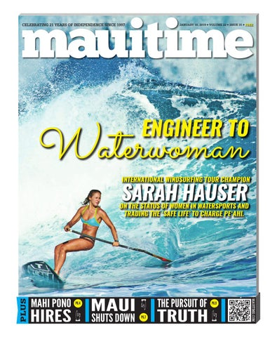 0cefe3f249 22.31 Sarah Hauser Engineer To Waterwoman, January 10, 2019, Volume 22,  Issue 31, MauiTime