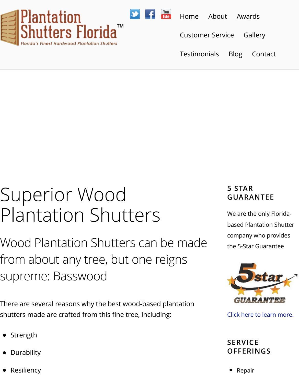 Superior Wood Plantation Shutters Plantation Shutters