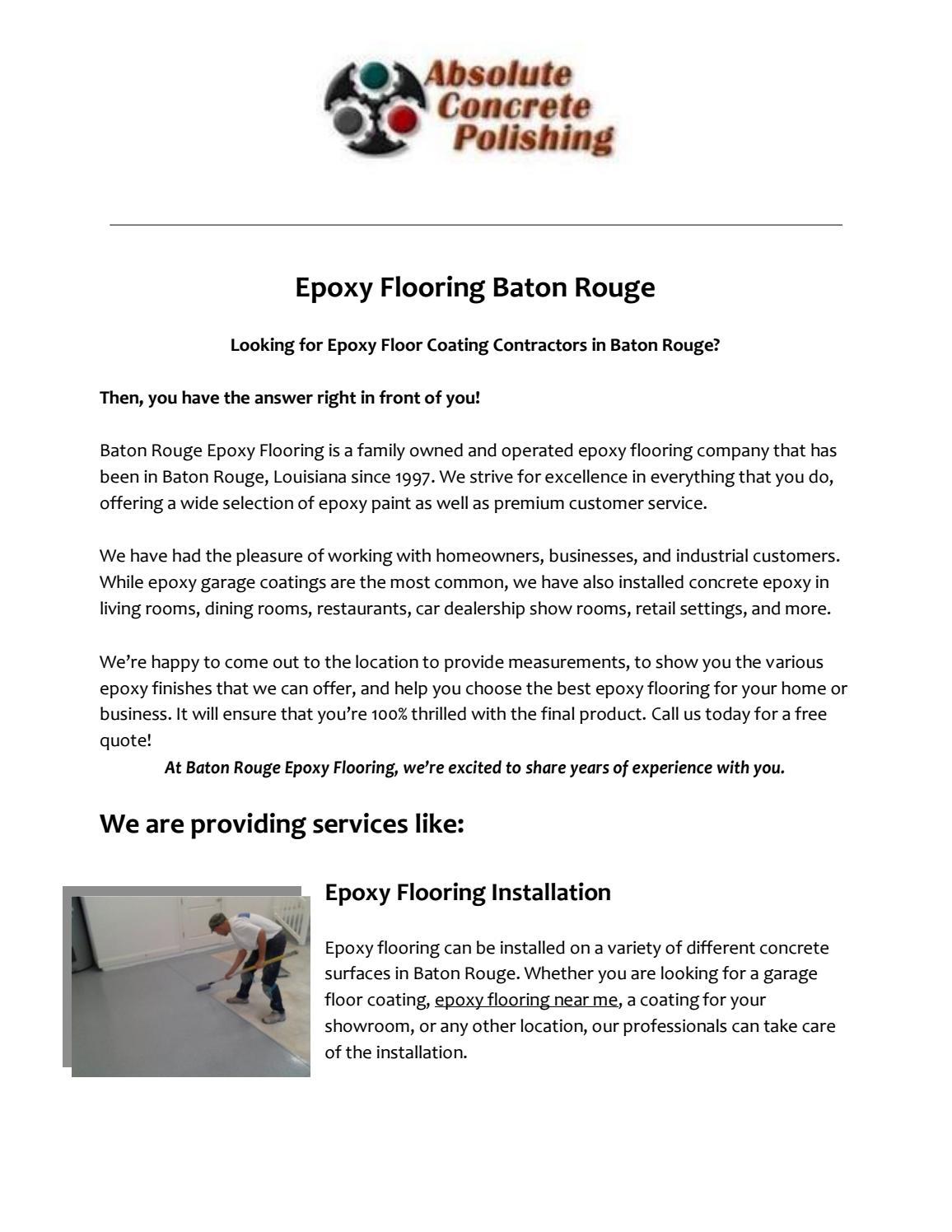 Epoxy Flooring Baton Rouge: You're trusted Epoxy Flooring