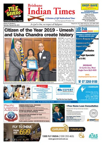 Brisbane Indian Times - February 2019 by Umesh Chandra - issuu