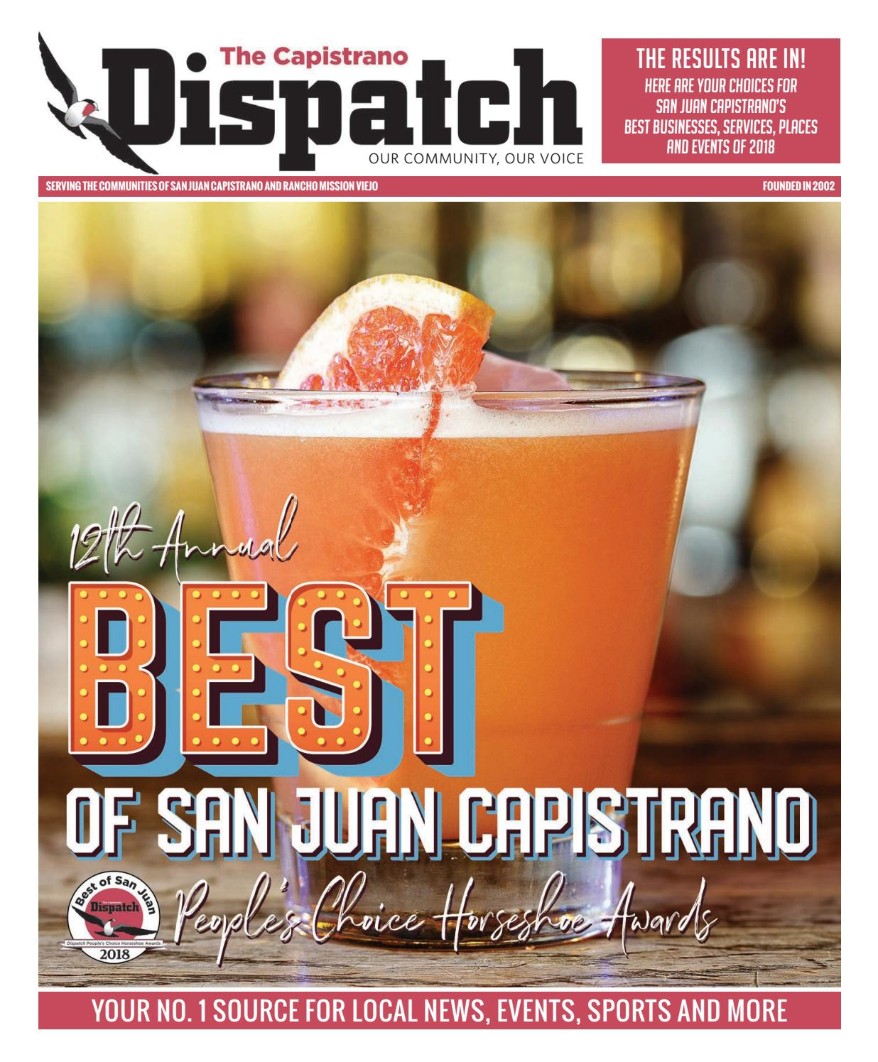 12th Annual Best Of San Juan Capistrano People S Choice Horseshoe Awards By The Capistrano Dispatch Issuu