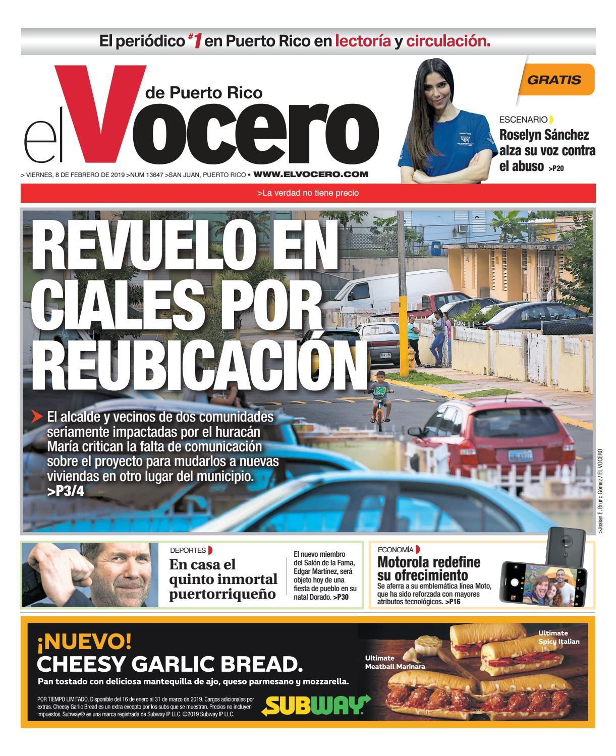 6be98ce81e Edición  8 de febrero de 2019 by El Vocero de Puerto Rico - issuu