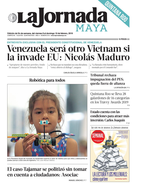 ac1222df8 La Jornada Maya · viernes 8 de febrero de 2019 by La Jornada Maya - issuu