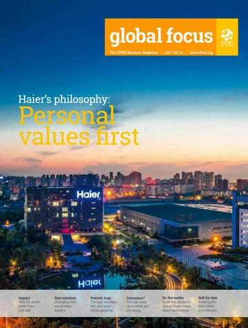 Bohr Leads Berra But Yogi Closing Gap >> Global Focus Vol 13 Issue 1 Haier S Philosophy Personal Values