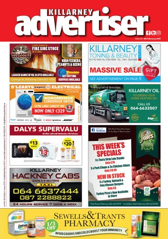 cf3c3f4bdb5 Killarney Advertiser 8 February 2019 by Killarney Advertiser - issuu