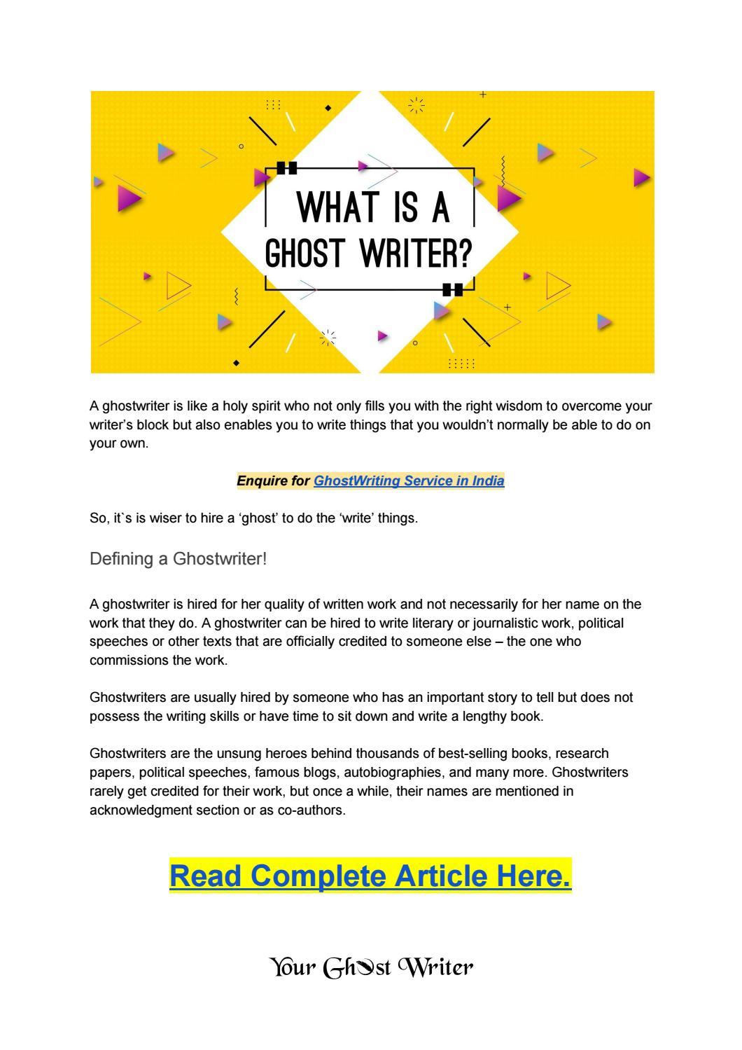 Literature ghostwriting for hire best home work editor website online