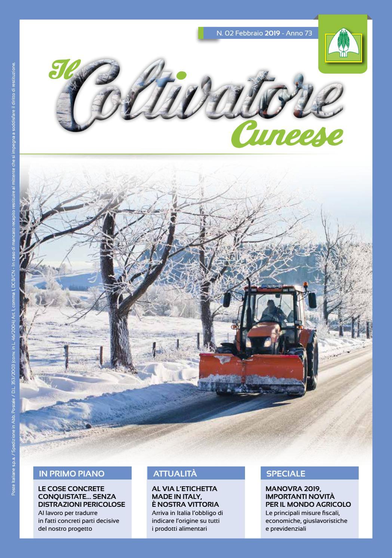 Il Coltivatore Cuneese n.02 Anno 2019 by Federazione Provinciale Coldiretti  Cuneo - issuu e2f99d99604