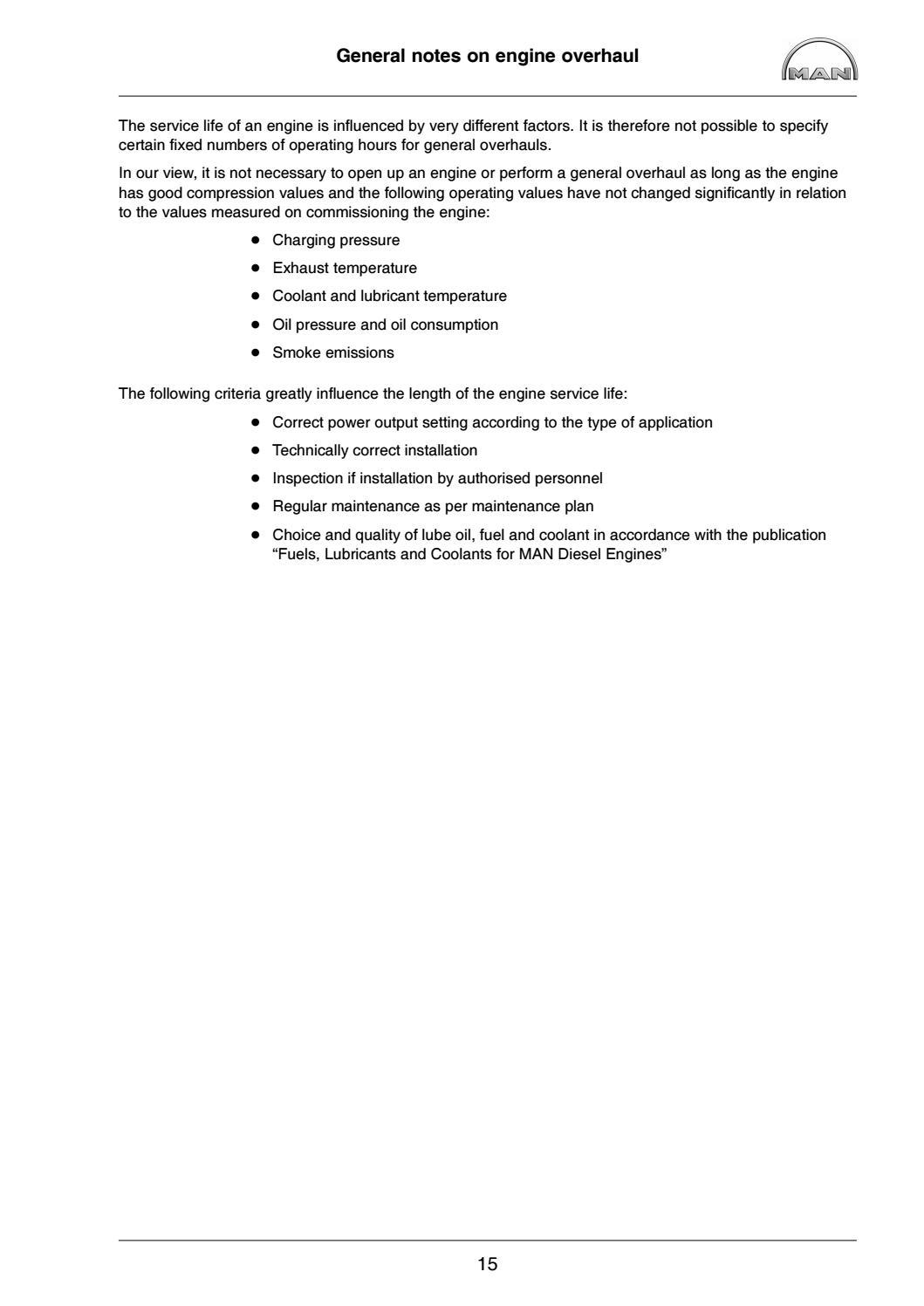 MAN MARINE DIESEL ENGINES R6-730 SERIES Service Repair Manual