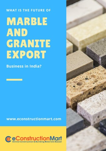 Future Of Marble And Granite Export