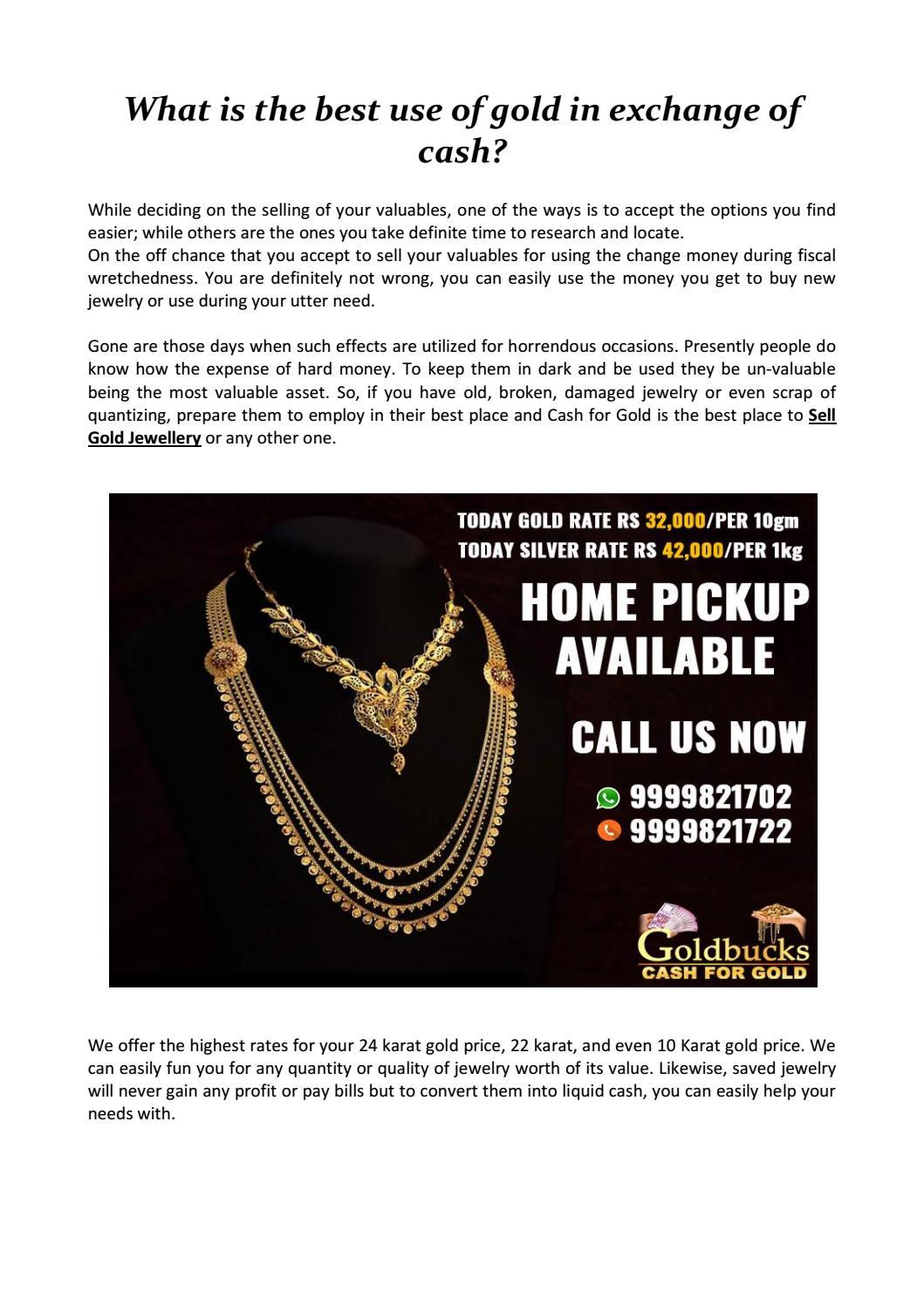 Gold In Exchange Of Cash By Cashforgold