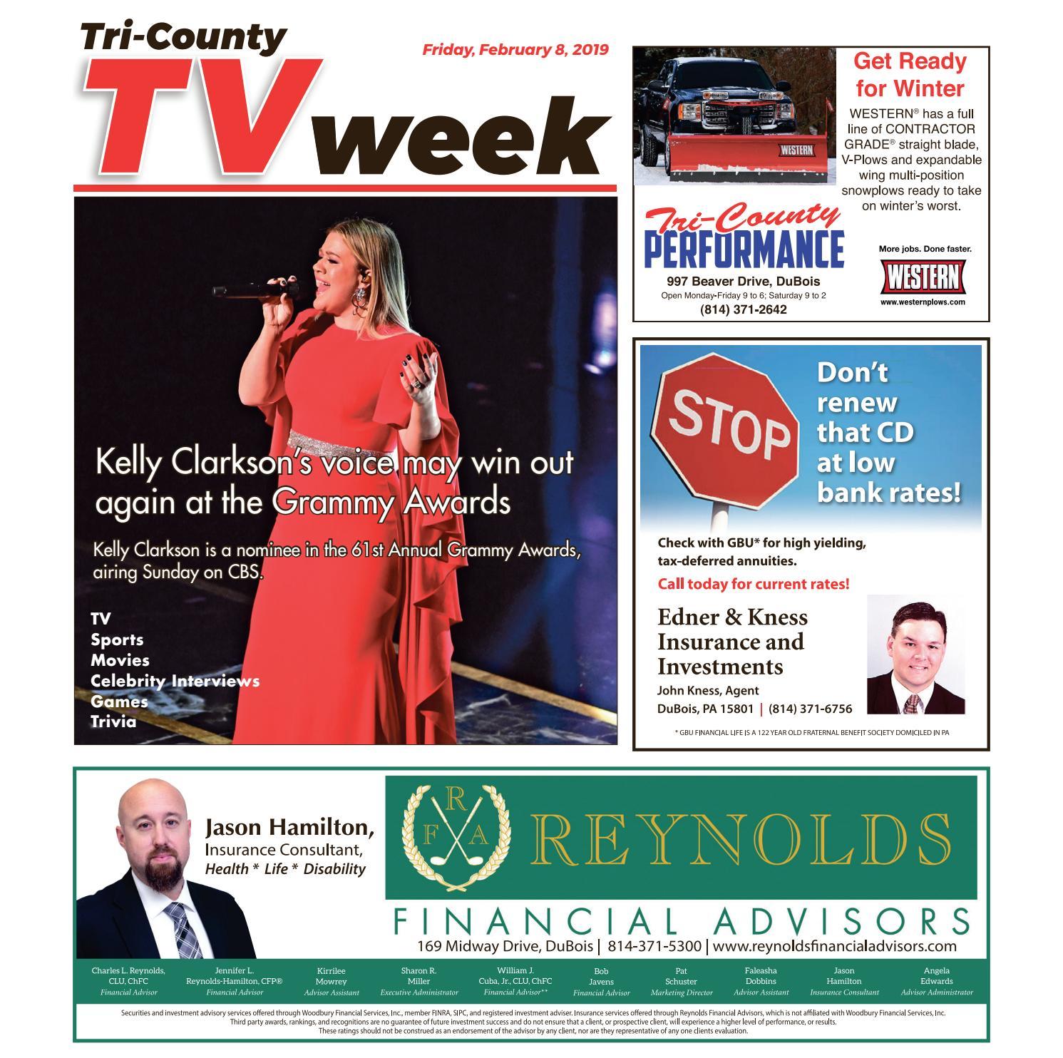 TV Week, Friday, February 8, 2019 by Tri-County TV Week - issuu