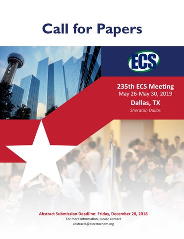235th ECS Meeting, Call for Papers by The Electrochemical