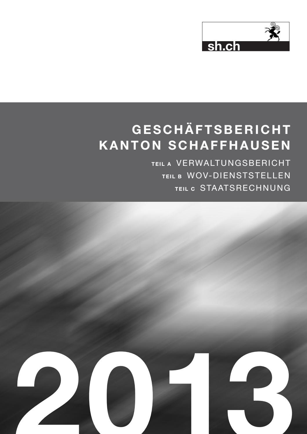 Schaffhausen ksd Geschäftsbericht issuu Kanton by 2013 sh K1JlcuTF3