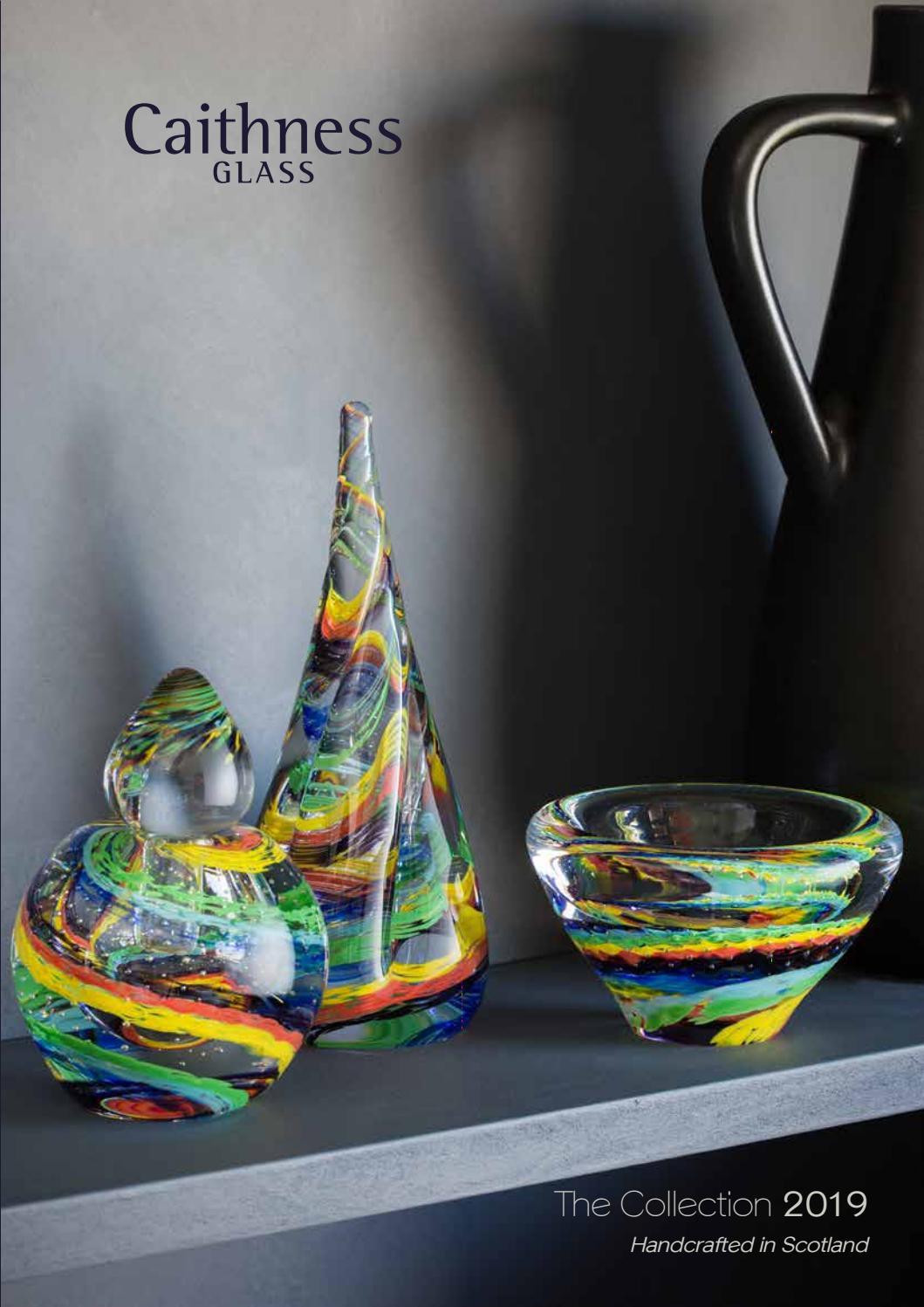 Caithness Glass U18035 Millefiori Stardust Blue Paperweight
