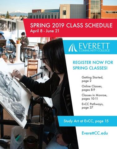 Spring 2019 class schedule by Everett Community College - issuu
