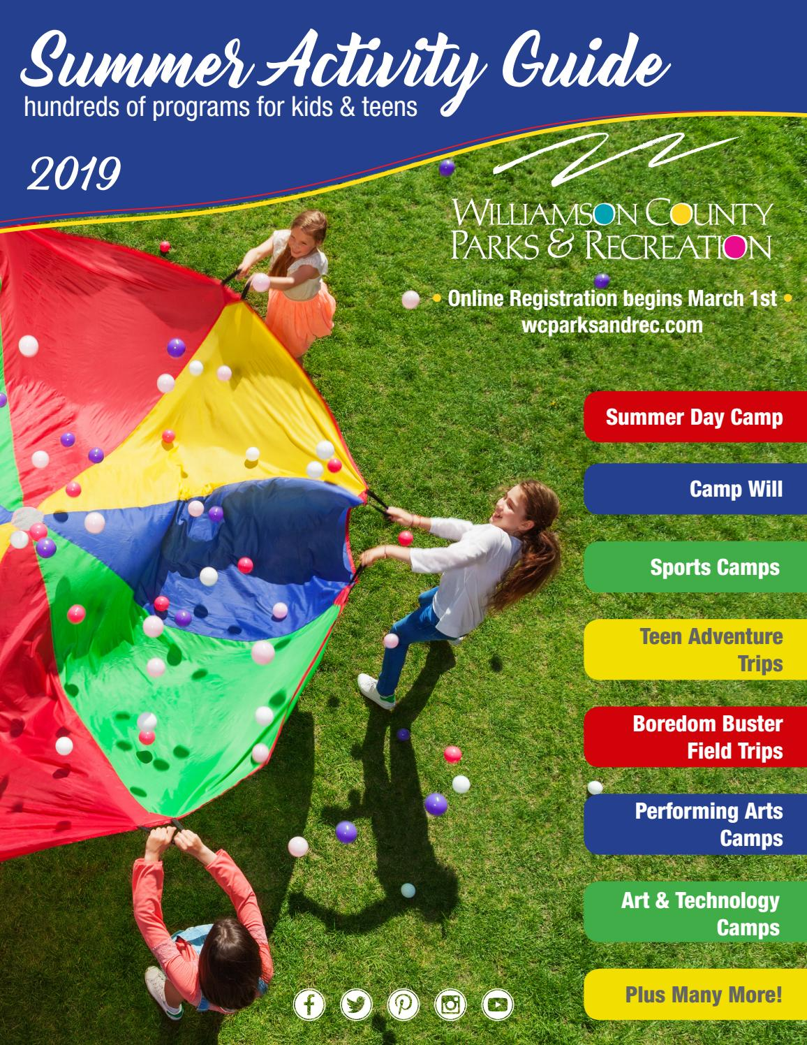 WCPR Summer Activity Guide 2019 by Williamson County Parks