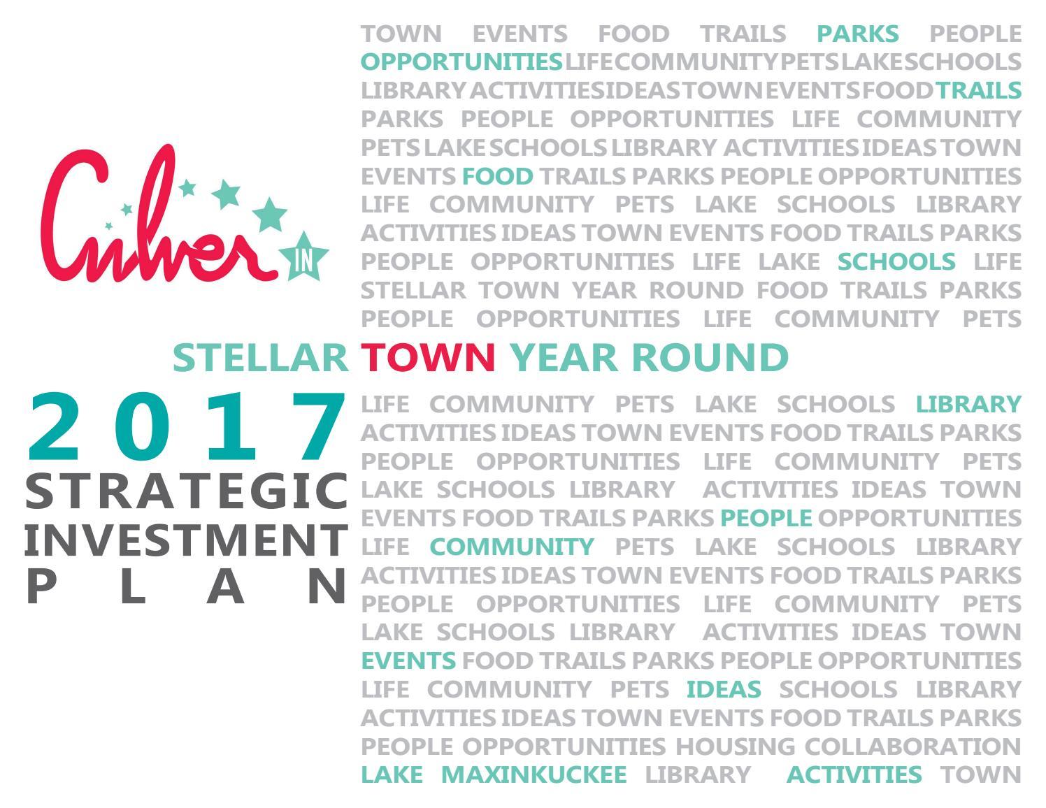 Iusb Spring 2020 Calendar.Culver Strategic Implementation Plan By Troyer Group Issuu