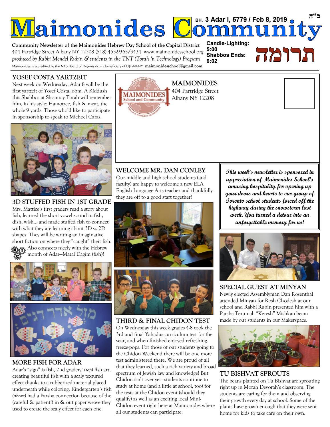 Maimonides Community by Maimonides School Albany - issuu