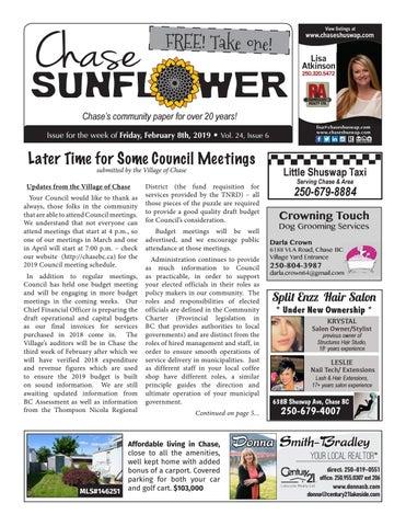 huge discount b4087 ada0c Chase Sunflower - February 8, 2019