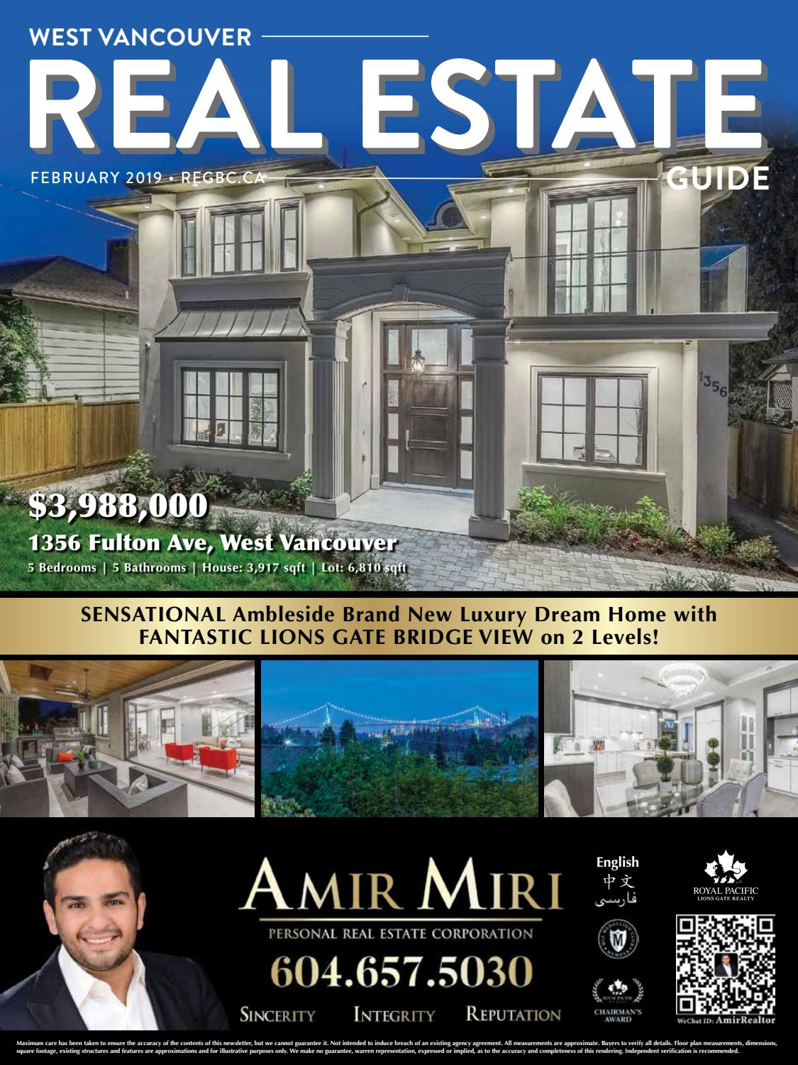 west vancouver real estate guide february 2019 by british columbia rh issuu com