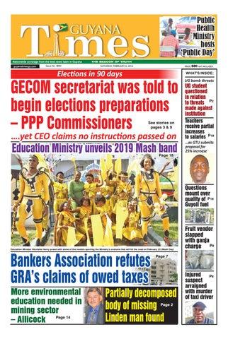 Guyana Times - Saturday, February 9, 2019 by Gytimes - issuu
