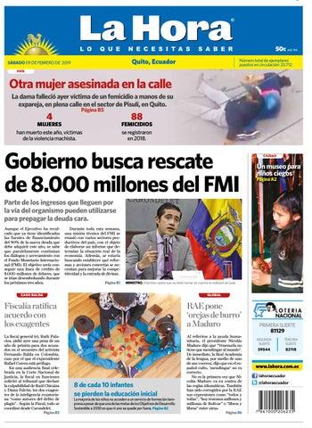 50f729d4a Quito 9 de febrero del 2019 by Diario La Hora Ecuador - issuu