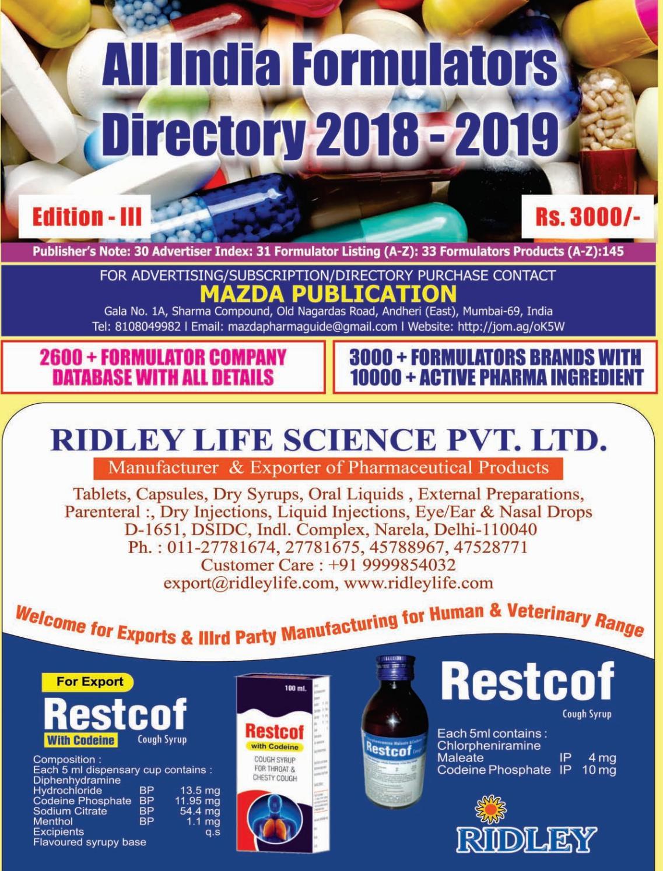 Formulators Directory - 2018 2019 by The Mazada Pharma Guide - issuu
